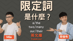Read more about the article 英文限定詞 (determiner) 是什麼?如何使用?